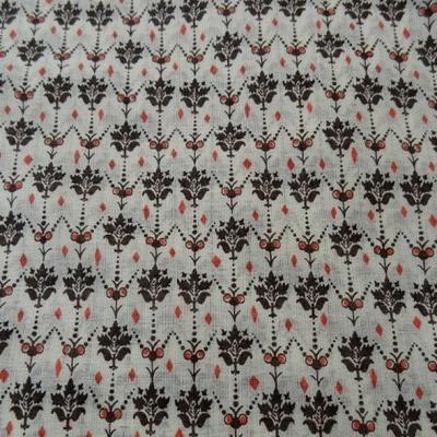 Voile de coton blanc casse petites fleurs vintage 5
