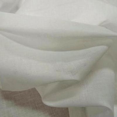 Voile de coton blanc casse
