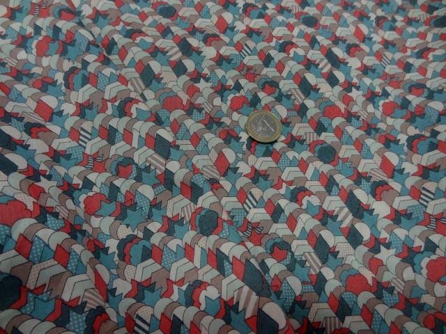 Voile de coton imprime etoiles bd 2