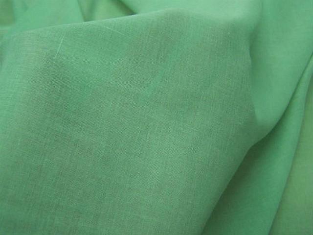 Voile de coton vert menthe a l eau 1