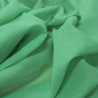 Voile de coton vert menthe a l eau 2
