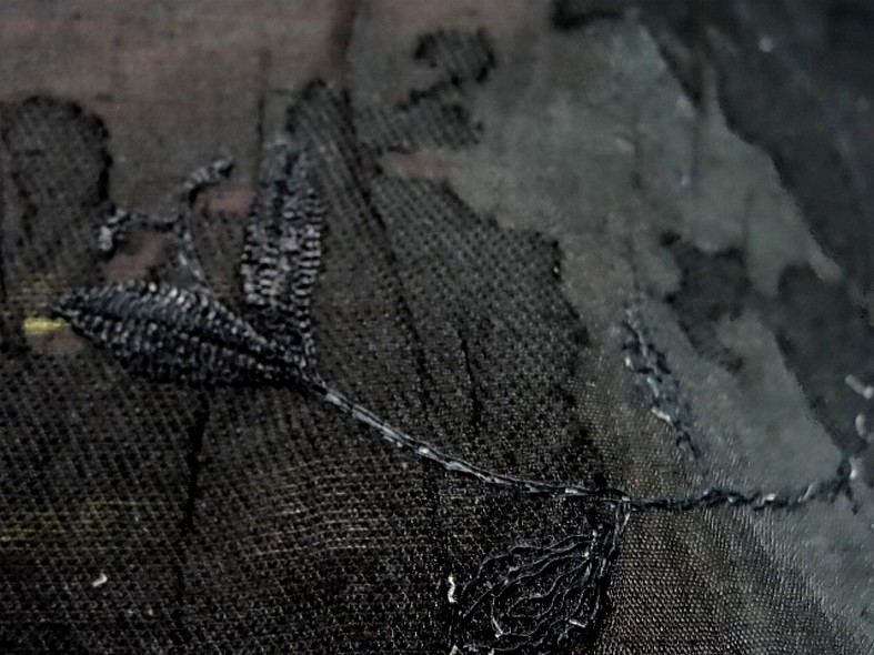 Voile devore et brode noir 1