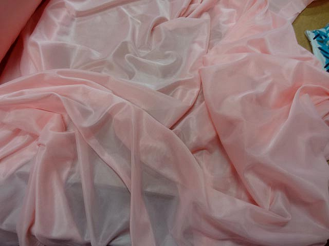 Voile jersey rose dragee 1