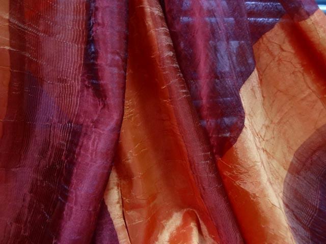 Voile organza taffetas orange bordeaux 3
