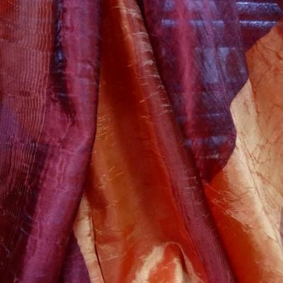 Voile organza taffetas orange bordeaux 3