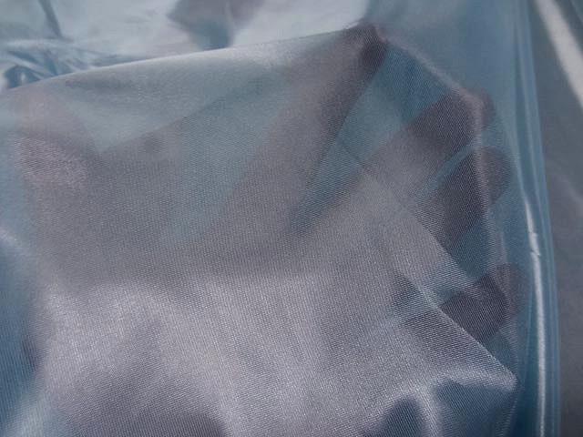 Voile polyester bleu brillant 1 1