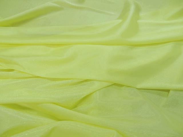 Voile polyester jaune brillant jpg 3