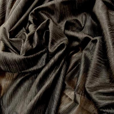 Voile polyester noir finement plisse 4