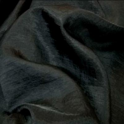 Voile polyester satine noir 1
