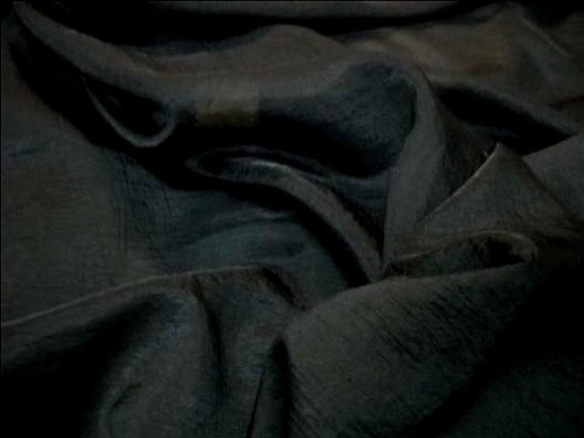 Voile polyester satine noir 2