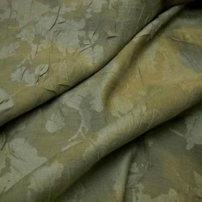 Voile polyester vanille devore froisse