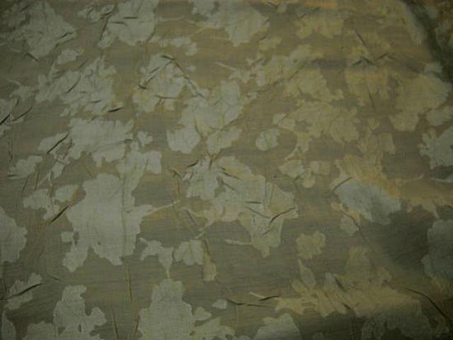 Voile polyester vanille devore froisse 1