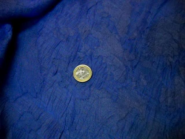 Voile polyesterfroisse devore bleu denim 1