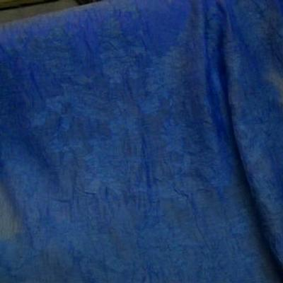 Voile polyesterfroisse devore bleu denim 2