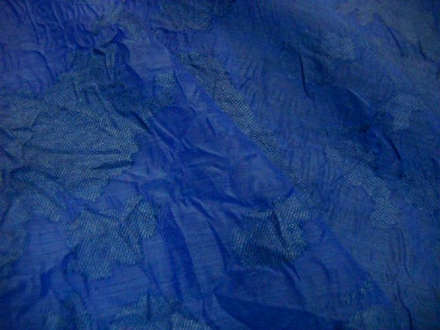 Voile polyesterfroisse devore bleu denim 3