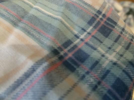 Voile coton carreaux couleurs tendres 03