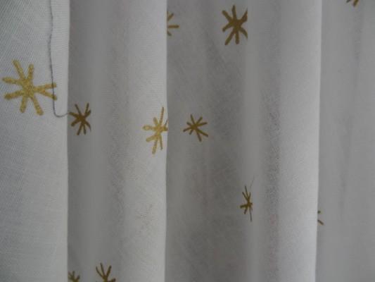 Voile coton blanc étoilé 04